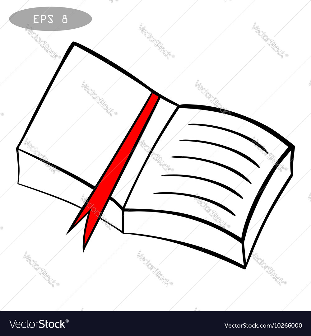 Hand drawn sketch book isolated on a white vector image