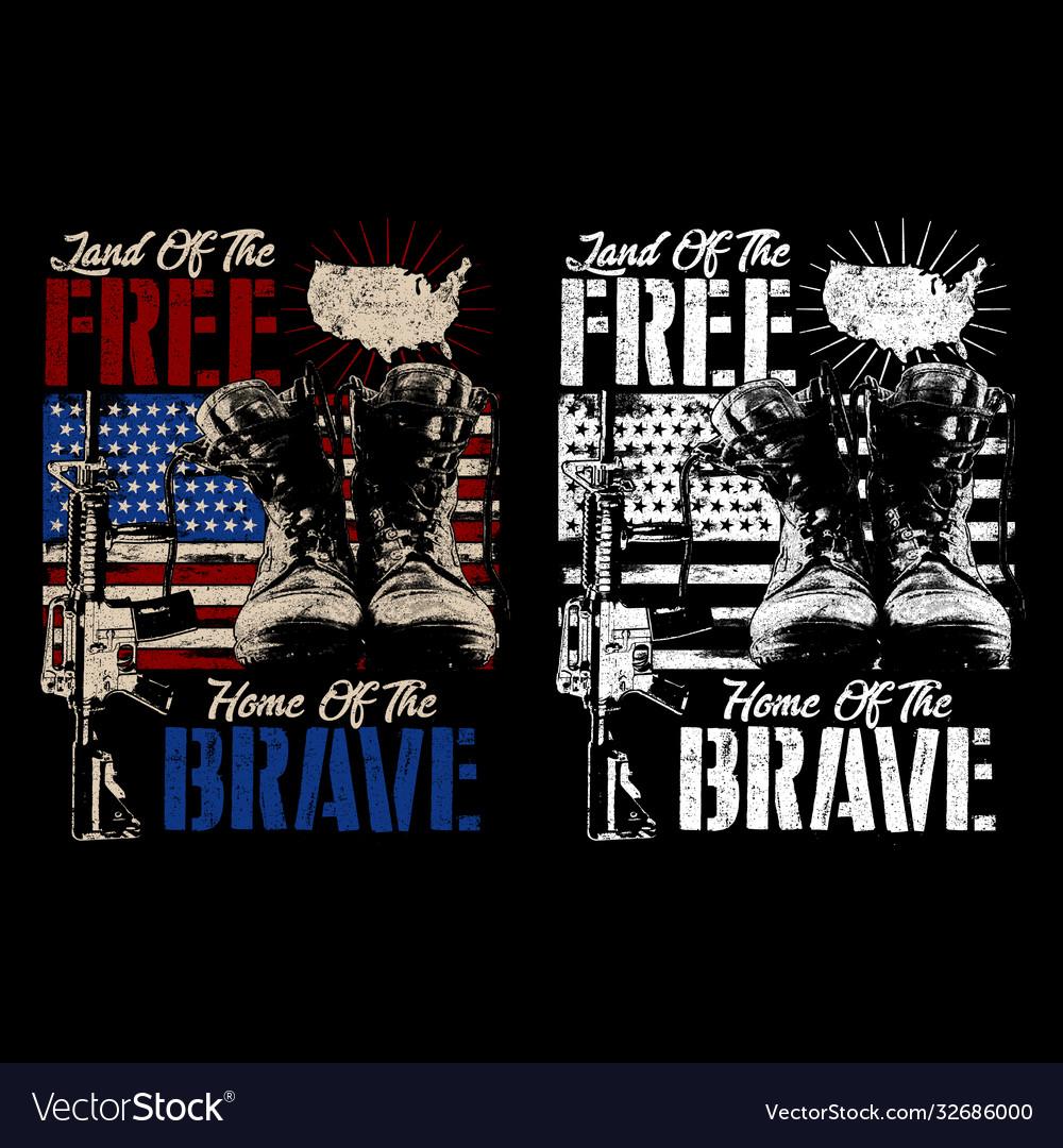 Land free home brave - american
