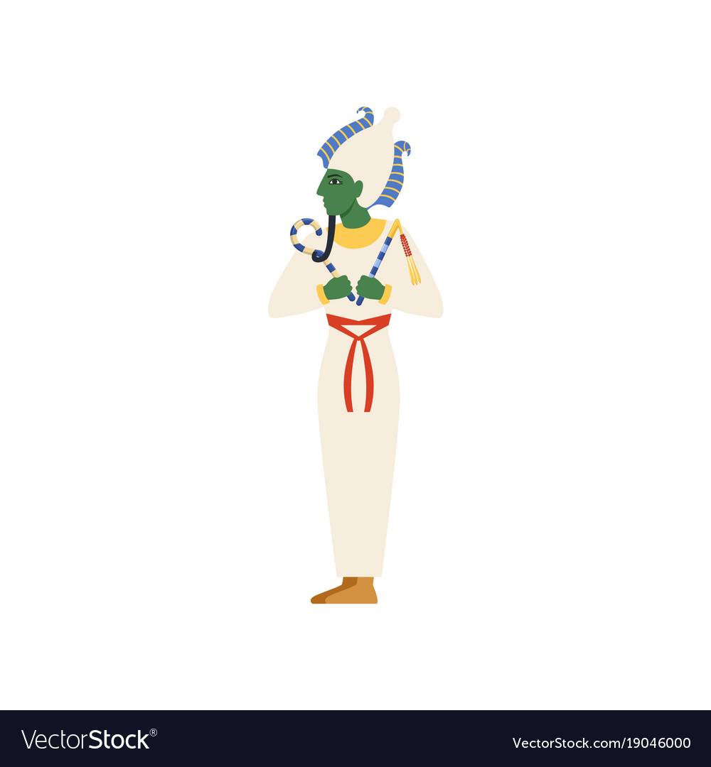 Osiris the god of the underworld egyptian vector image