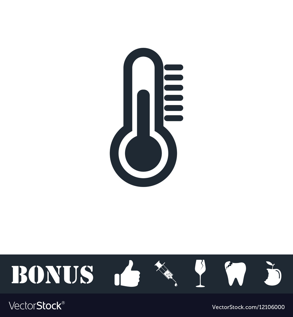 Thermometer icon flat