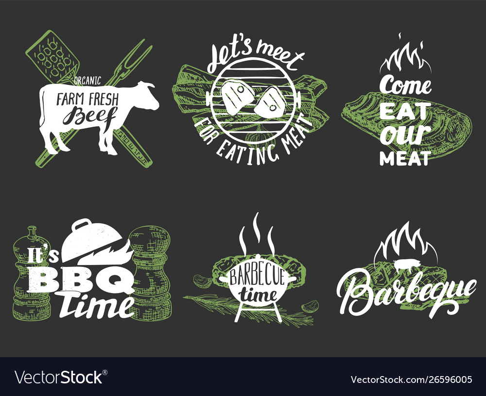 Barbeque quotes hand lettering typography