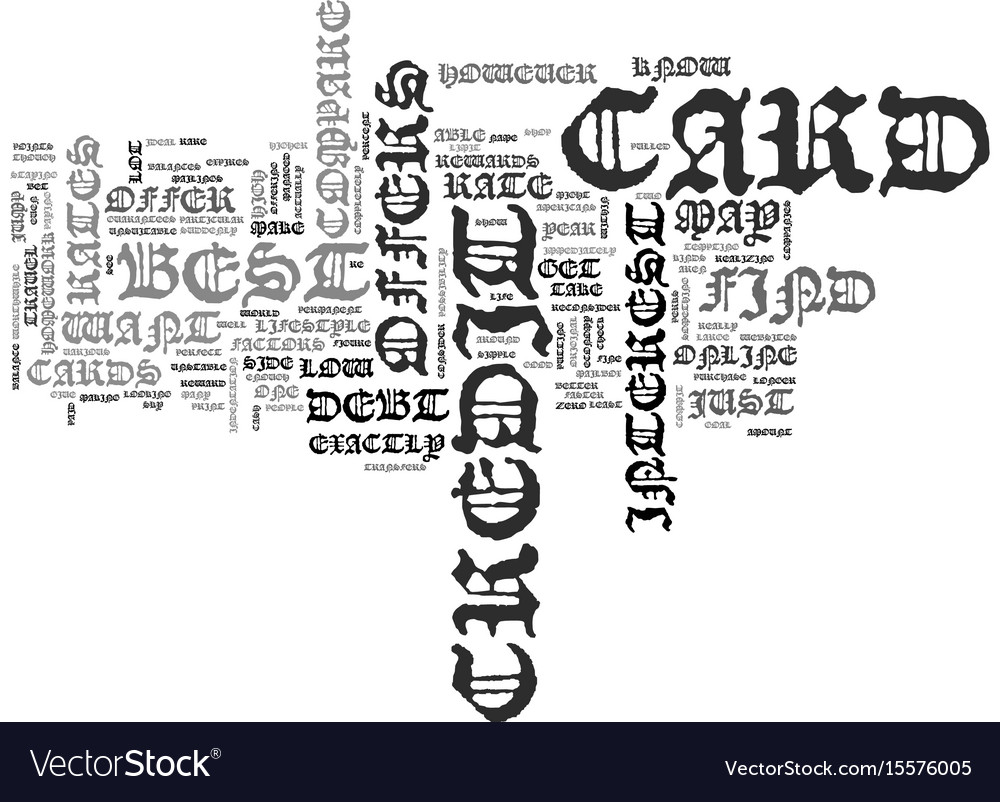 Best credit card offers text word cloud concept