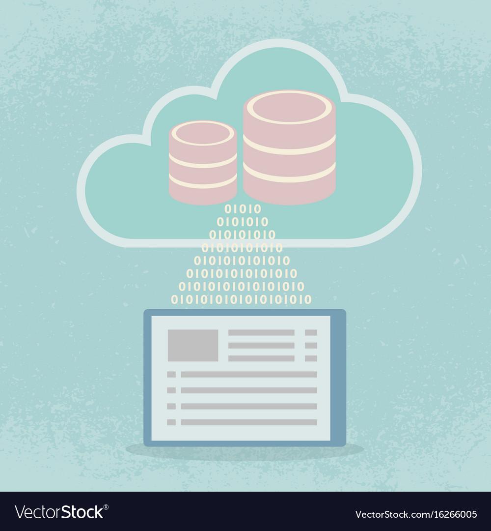 Big data cloud computing concept