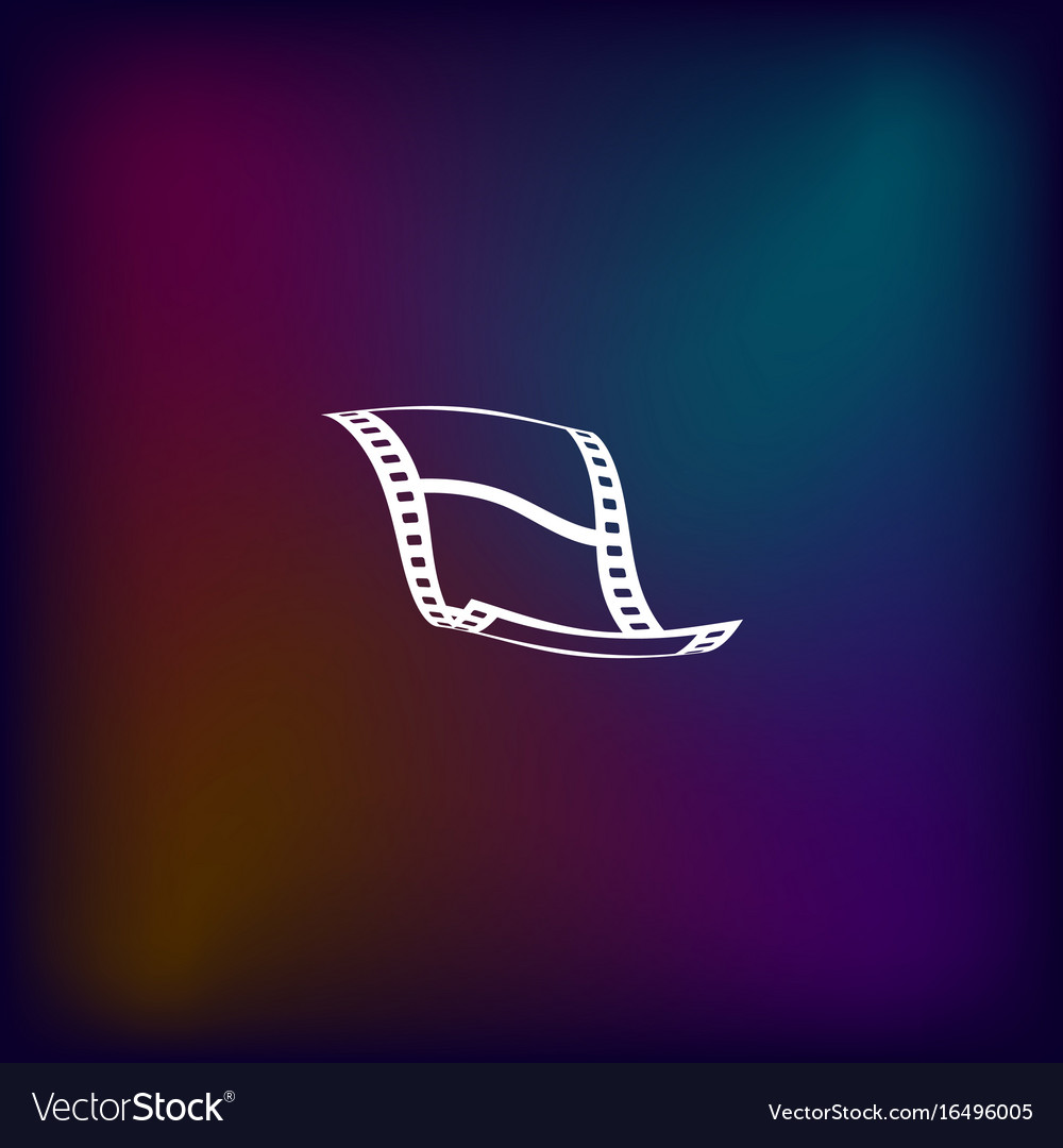 Blank film strip icon