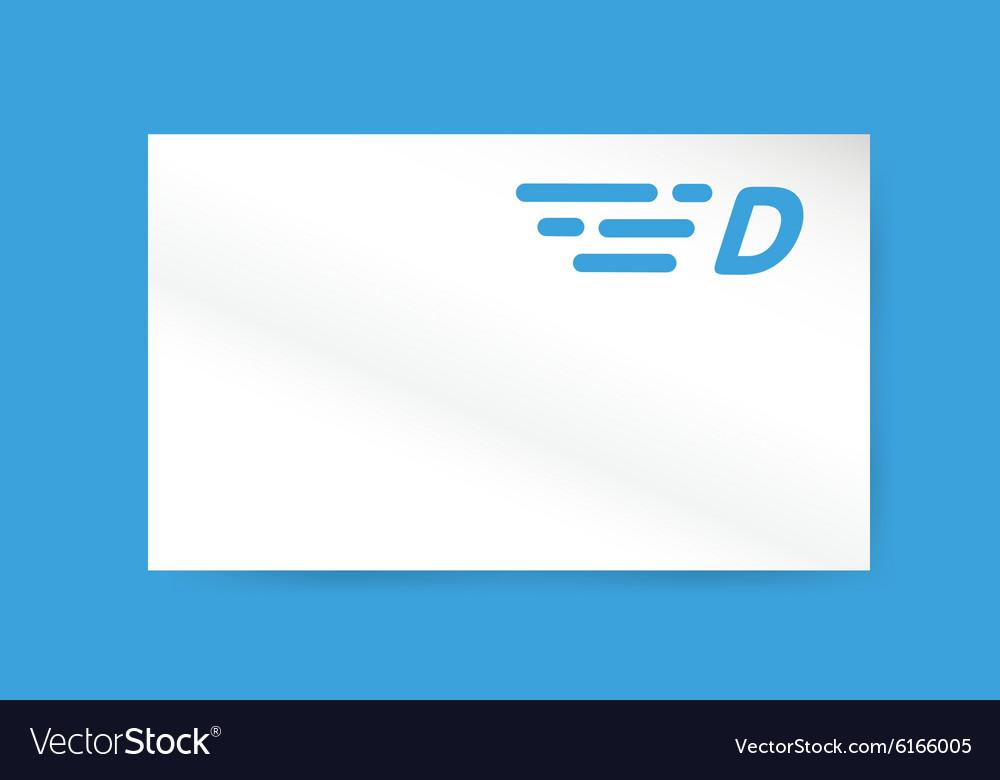 Fast line letter D logo monogram