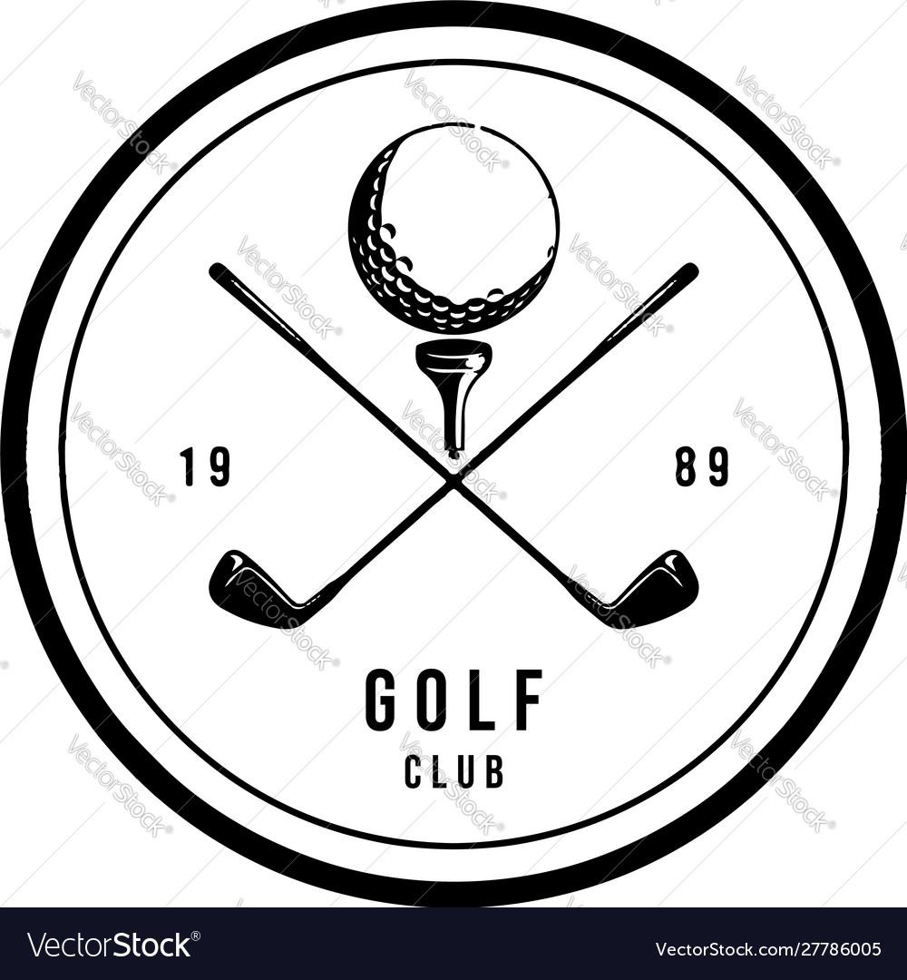 Logos for golf clubs tournament circular vintage