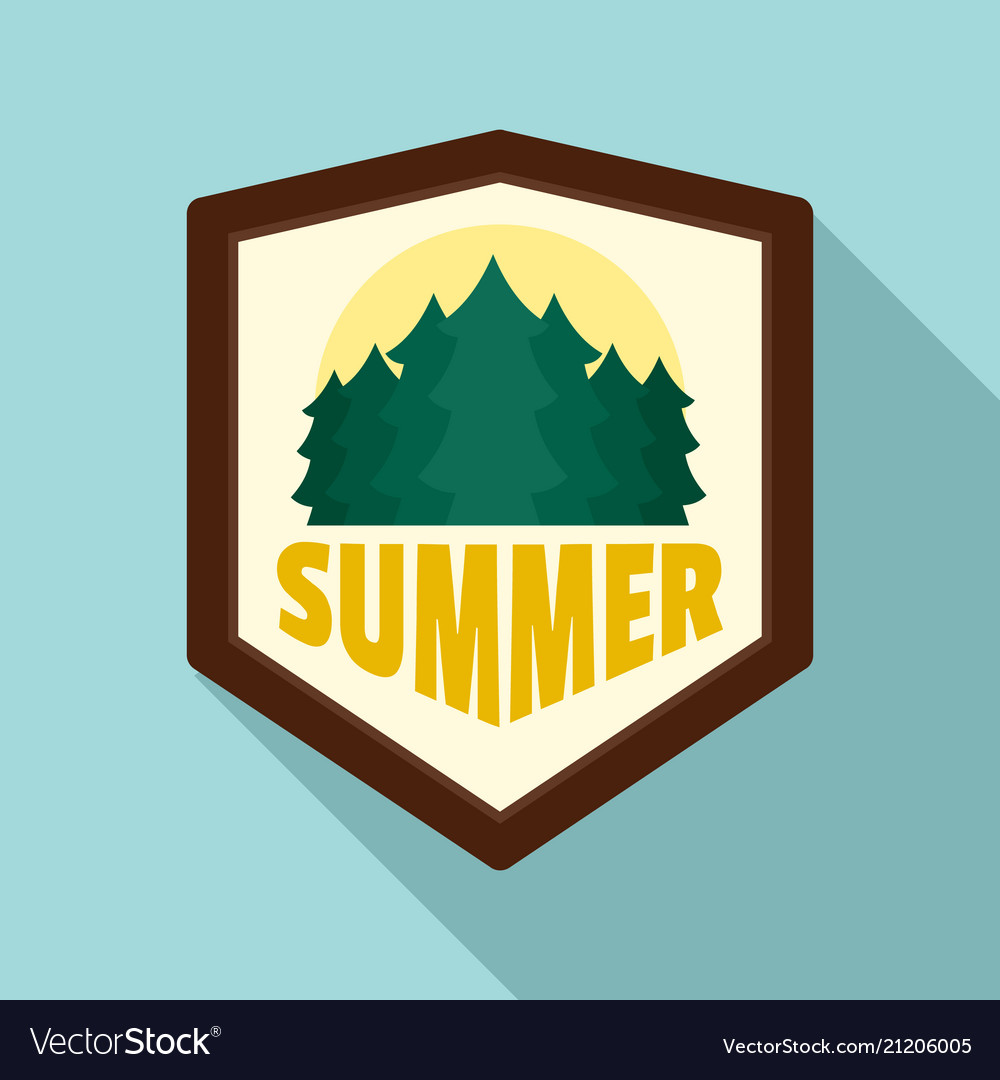 Summer forest logo flat style