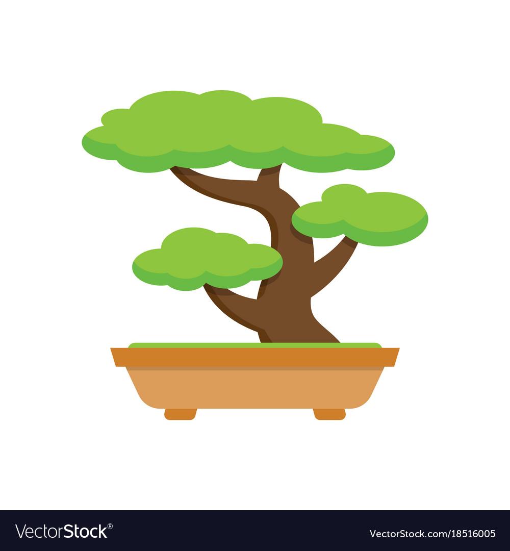 Tree Bonsai Japanese Tree Royalty Free Vector Image