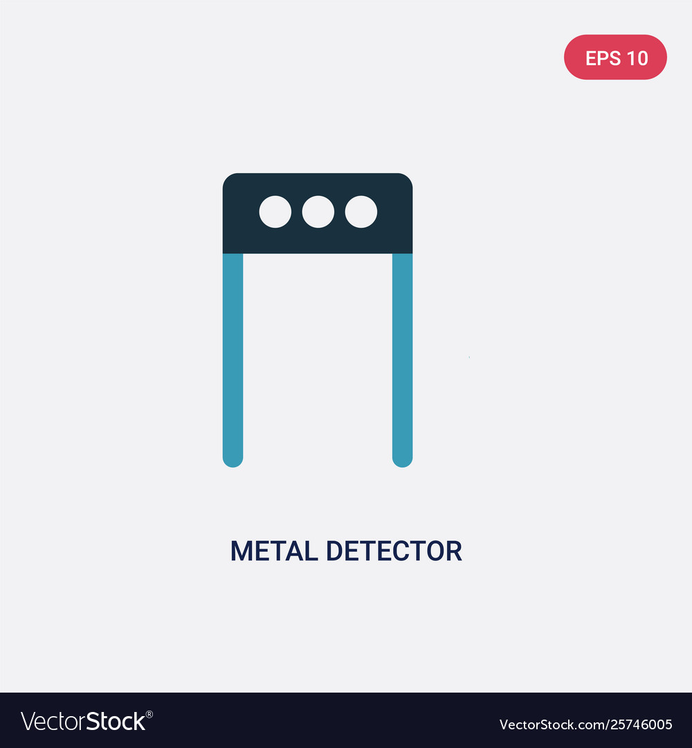 Two color metal detector icon from museum concept