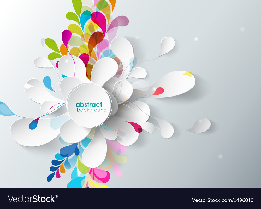 Abstract Background With Paper Flower Royalty Free Vector