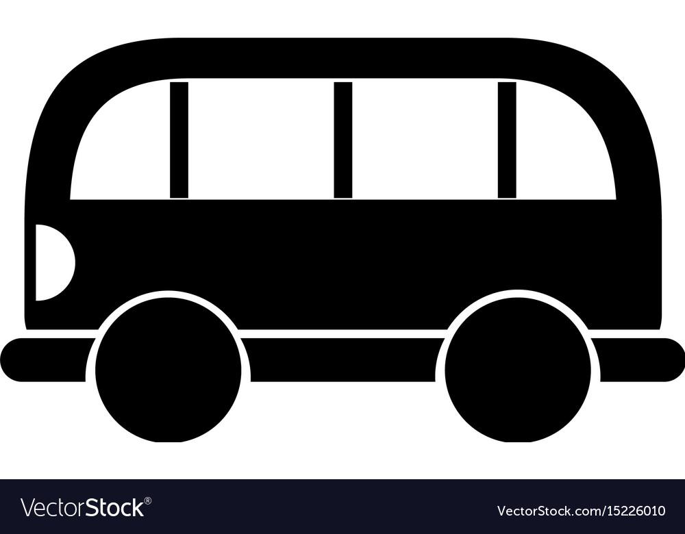 Black icon car cartoon