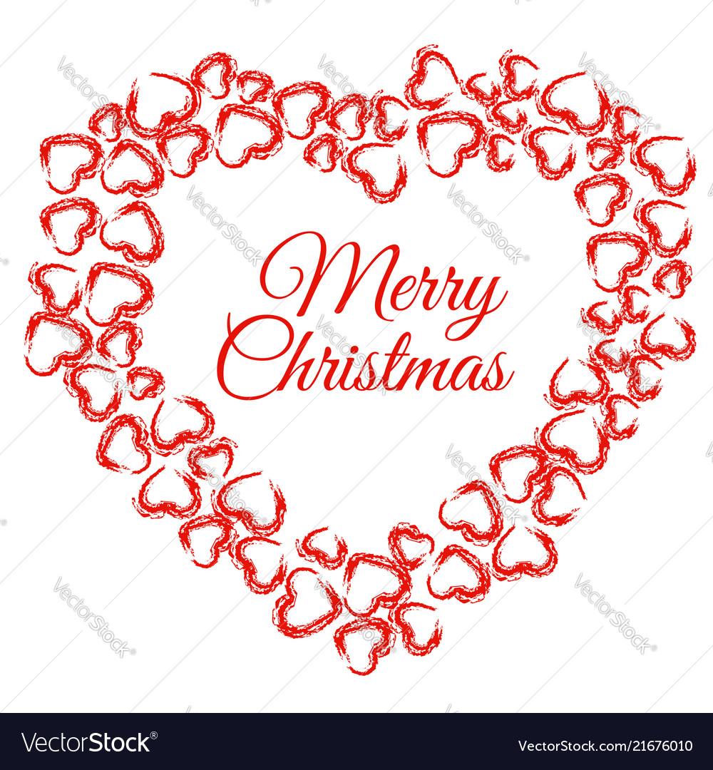 Christmas Heart Vector.Christmas Heart Wreath