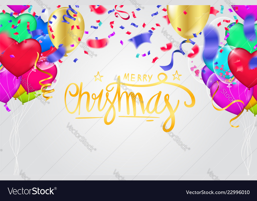 Christmas party poster template and happy new