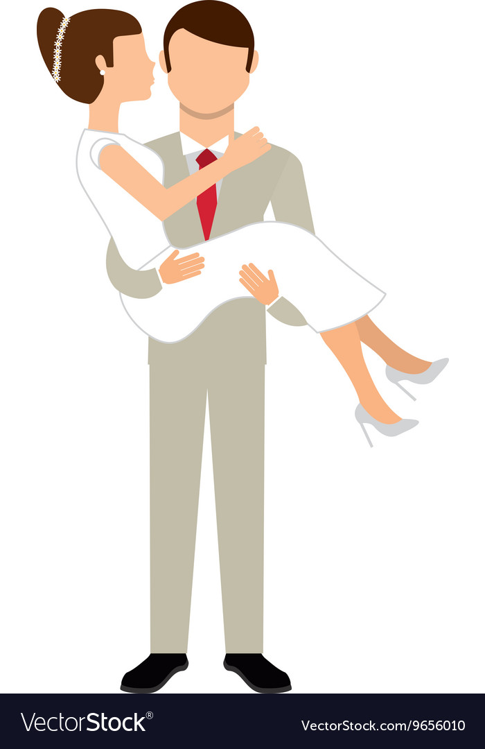 Couple wedding isolated icon design