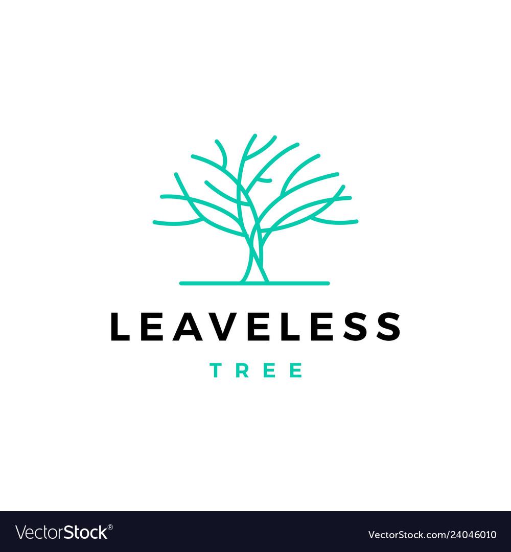 Leafless tree logo icon