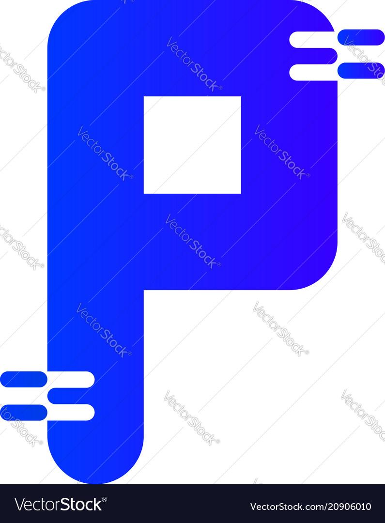 Letter p logo icon design