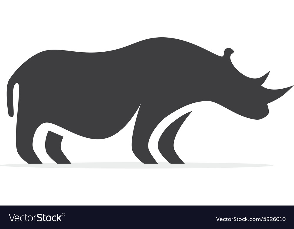 Rhino logo or icon vector image