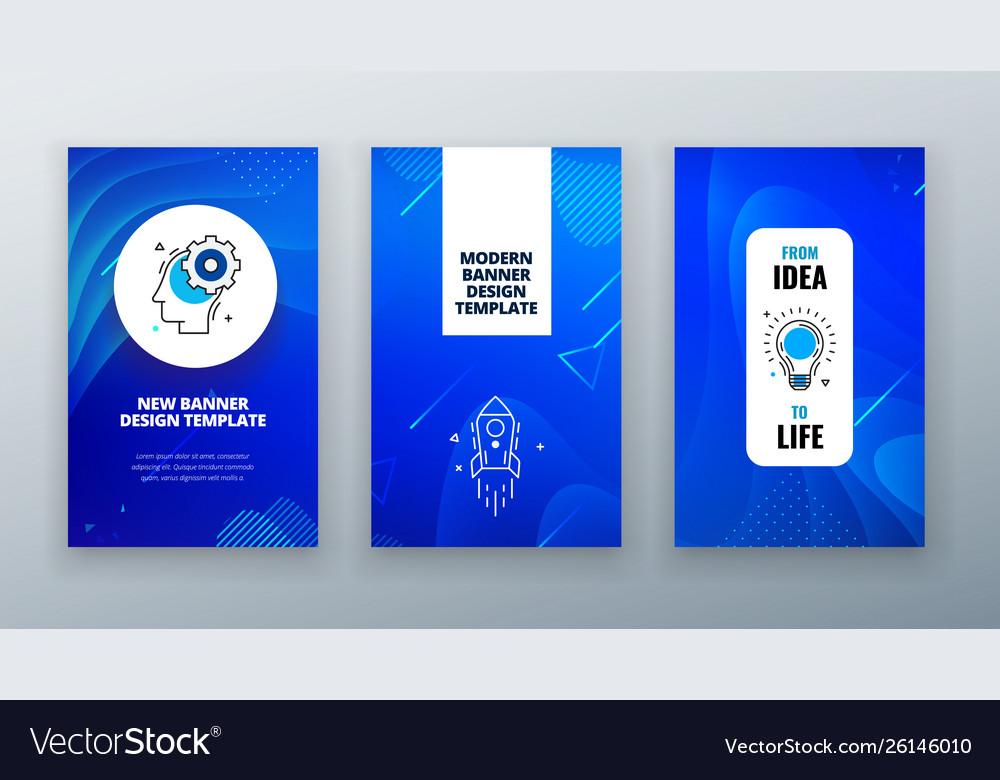 Vertical banner design for social networks