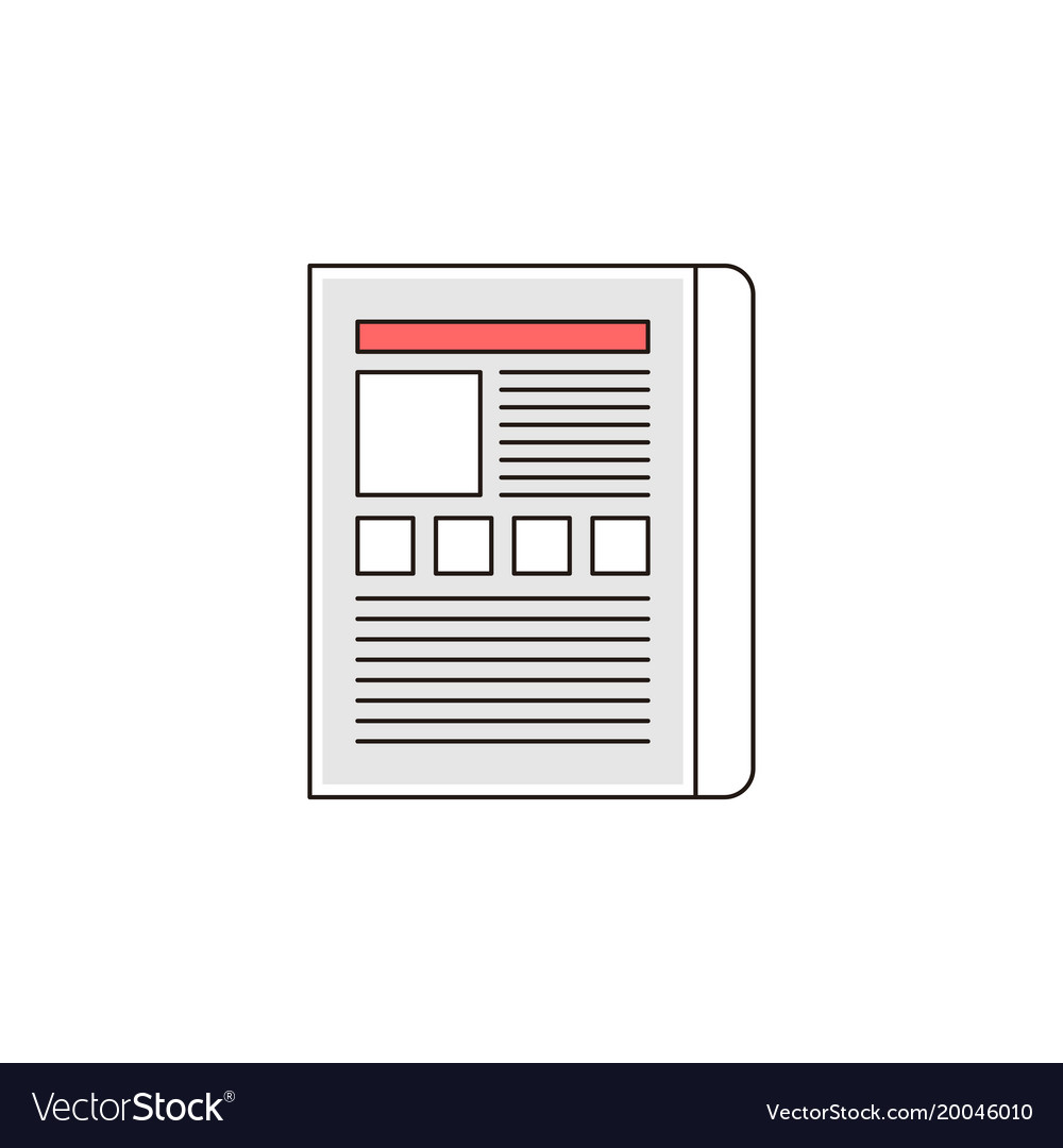 Web landing page outline icon
