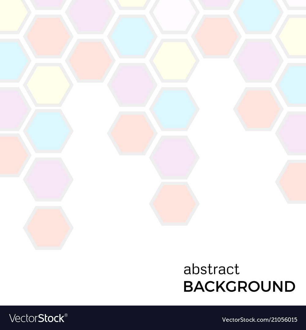 Abstract background with color hexagons