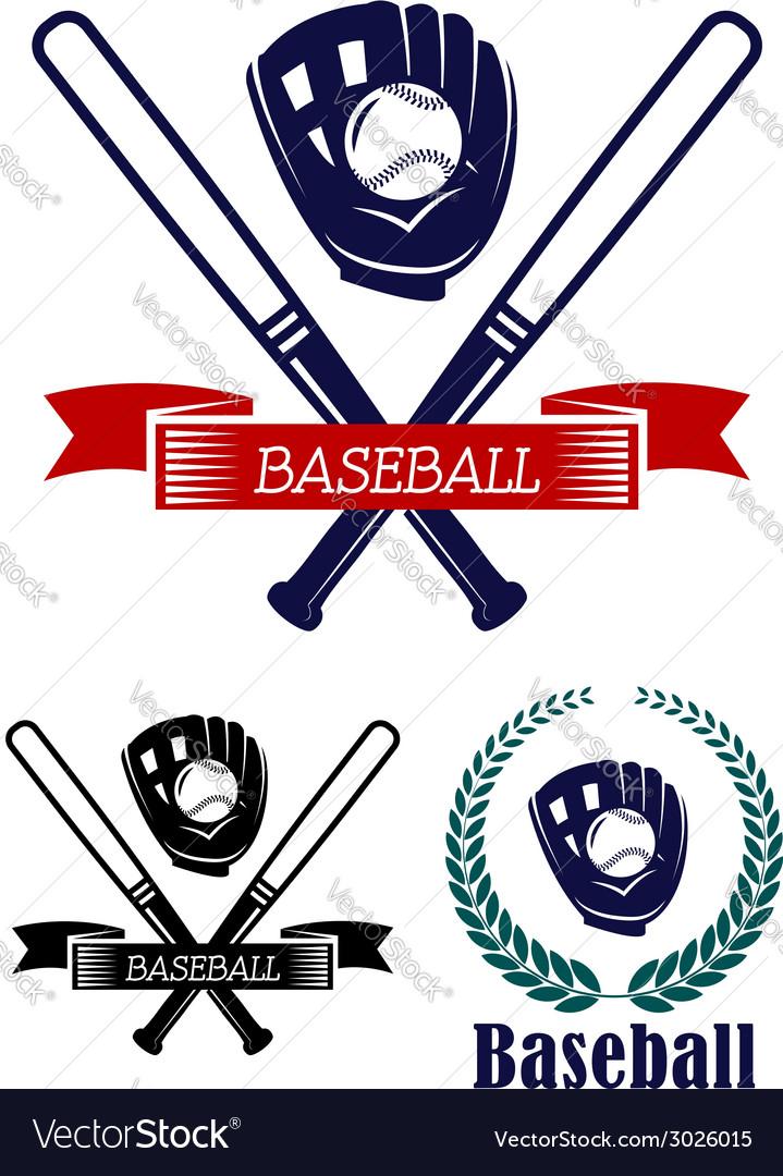 Baseball banners set vector image