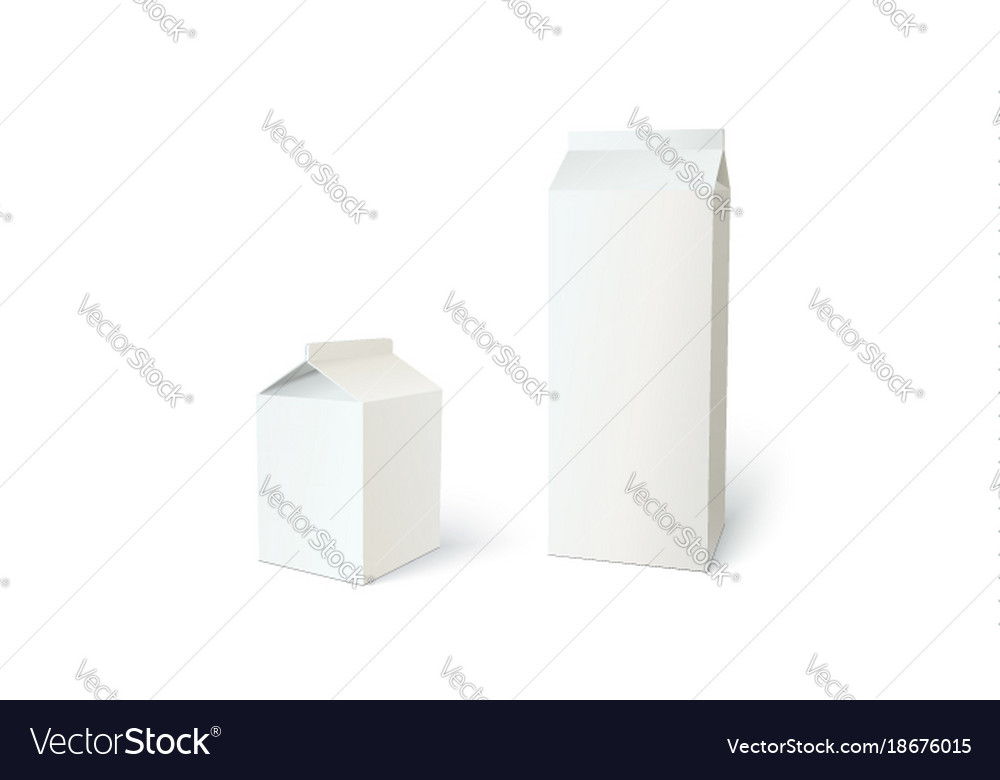 Boxes for milk or juice can use for branding set