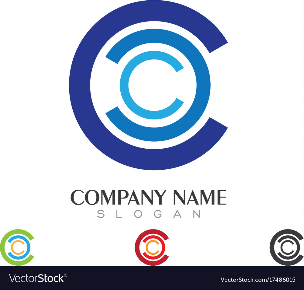C letter logo business template vector image