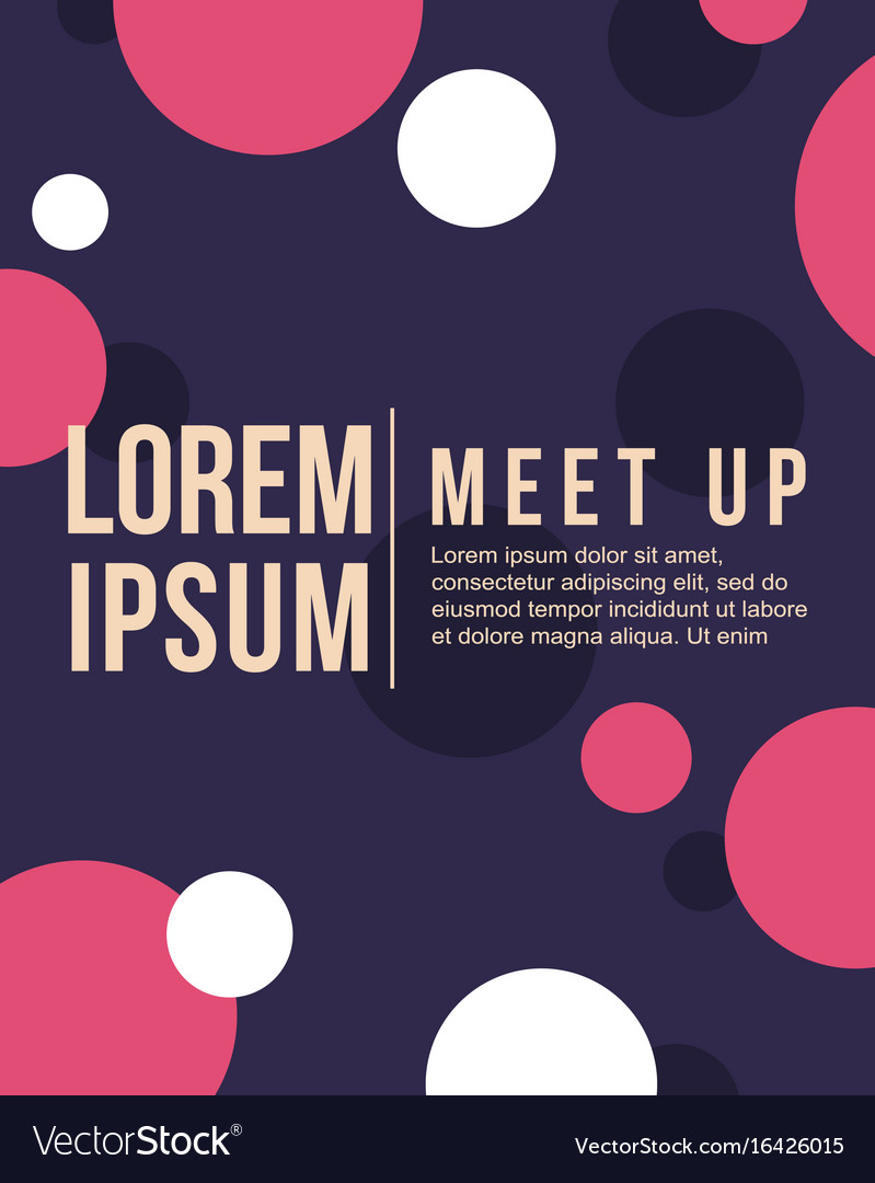 Cool colorful background style bubble meet up card