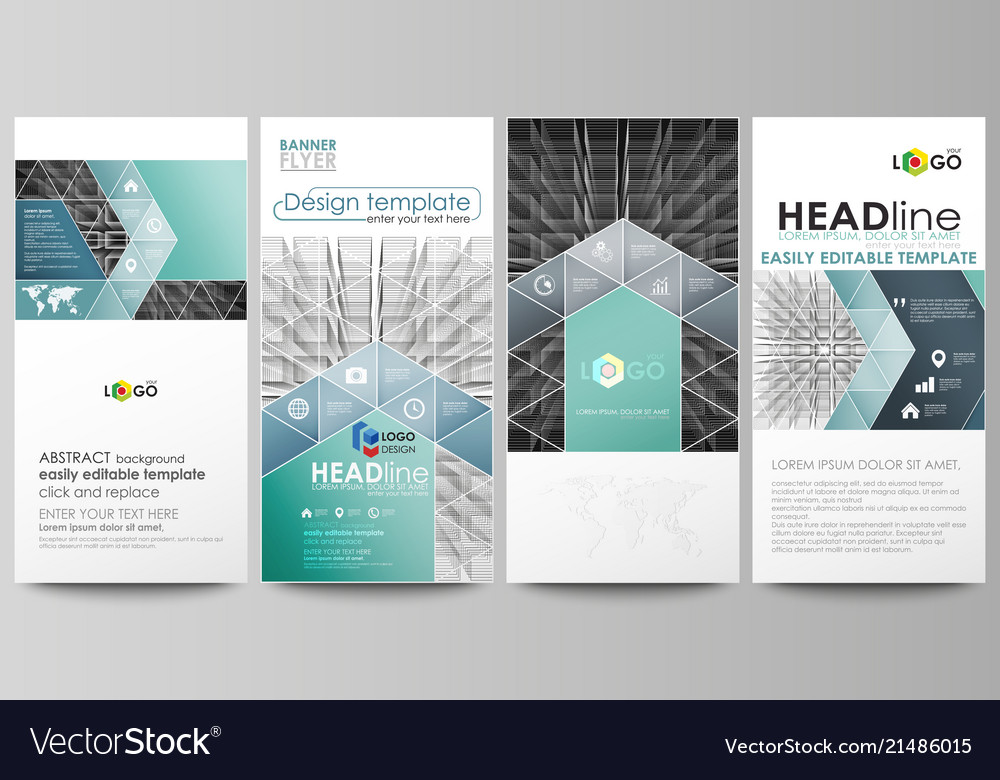 Flyers set modern banners business templates vector image accmission Image collections