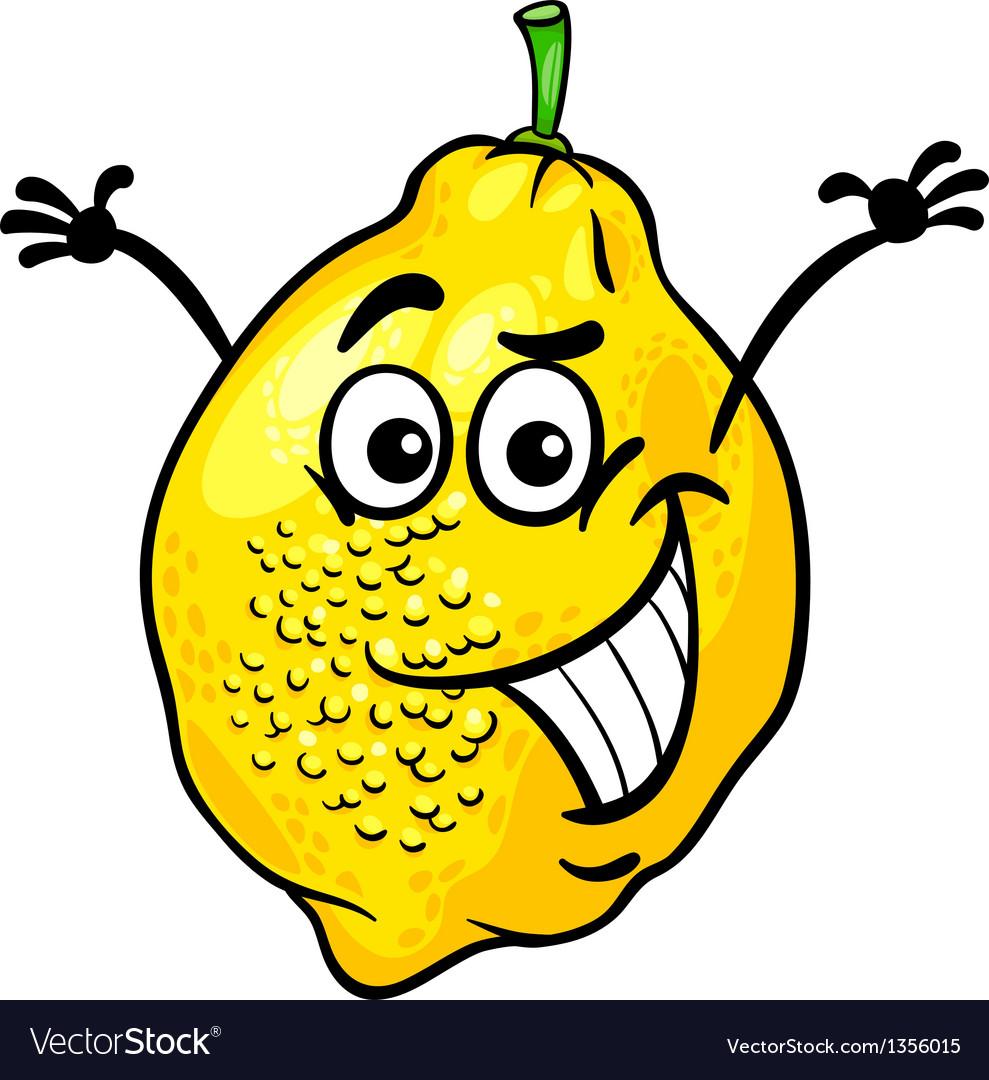 Funny lemon fruit cartoon