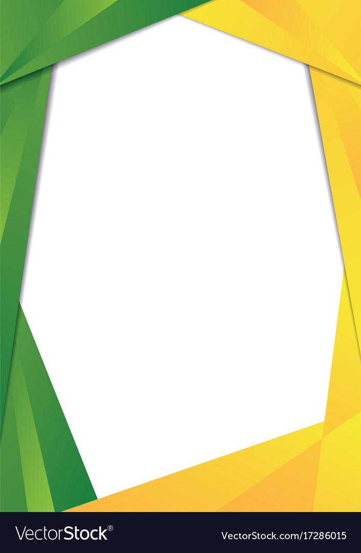 Green and yellow triangle frame border Royalty Free Vector