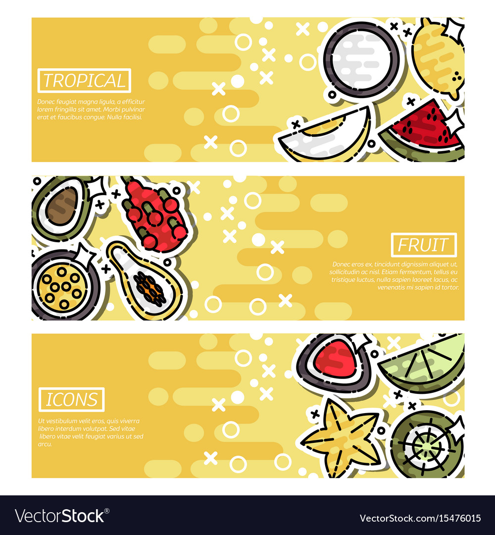 Horizontal banners about indian tropical fruit