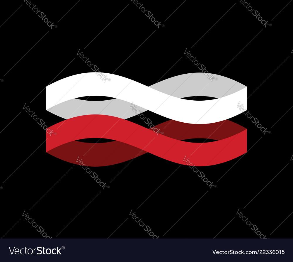Indonesia flag ribbon isolated indonesian symbol