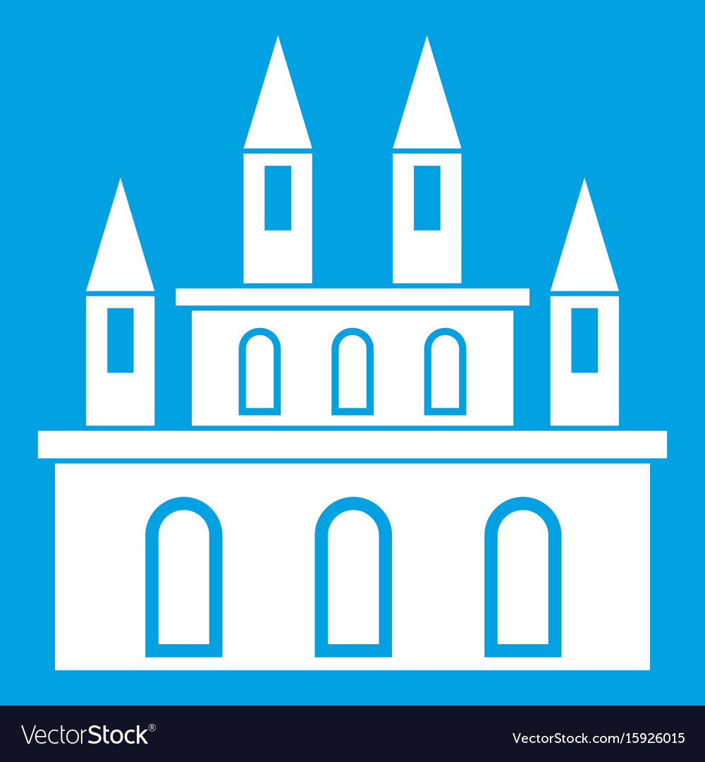Medieval castle icon white vector image