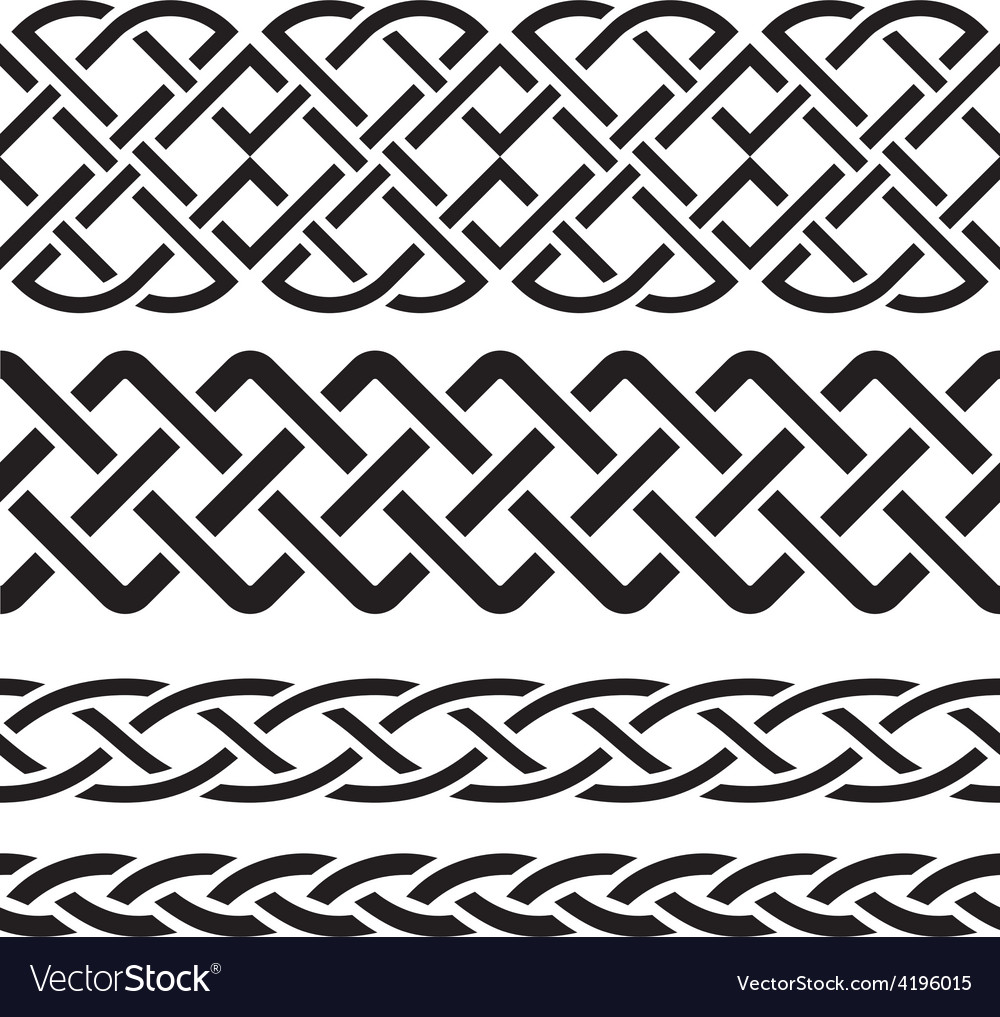 Set celtic pattern borders