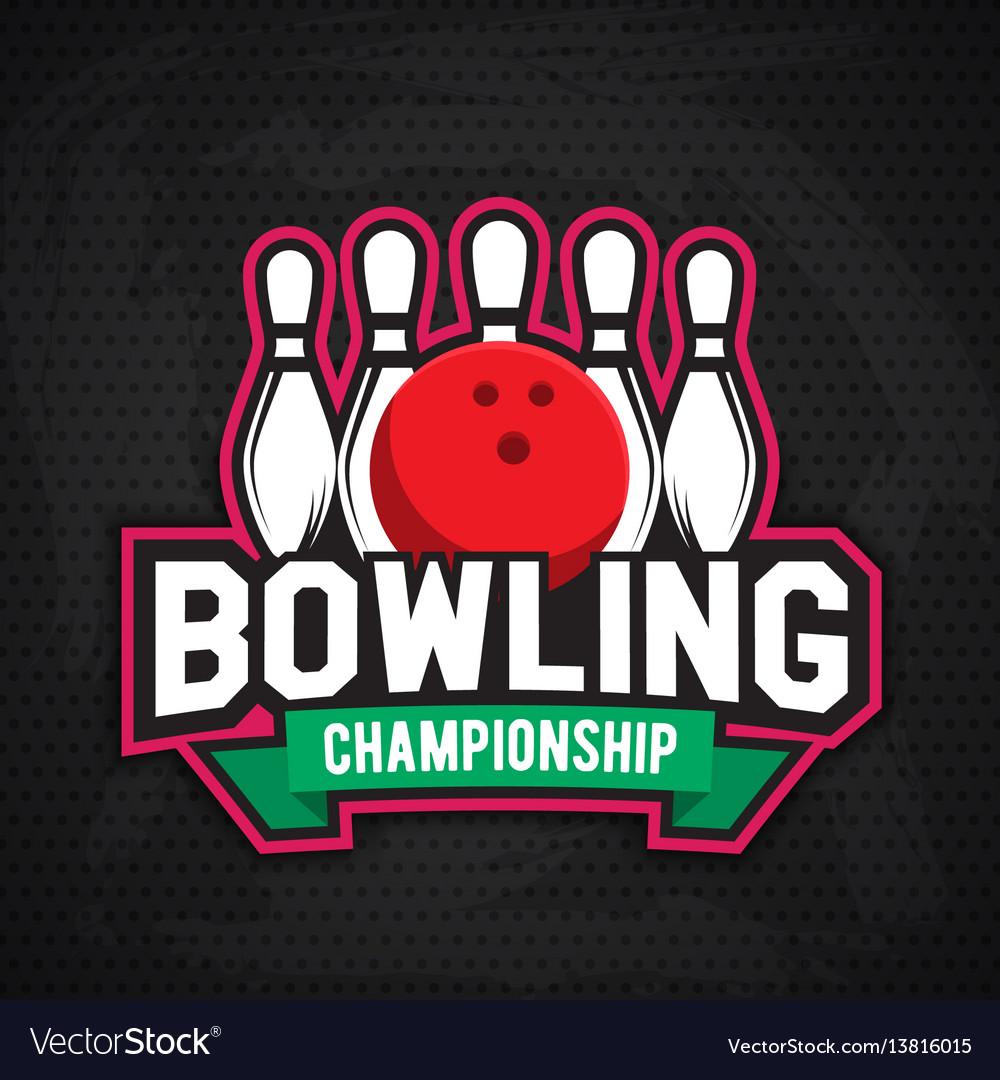 Ultimate bowling chanpionship logo design