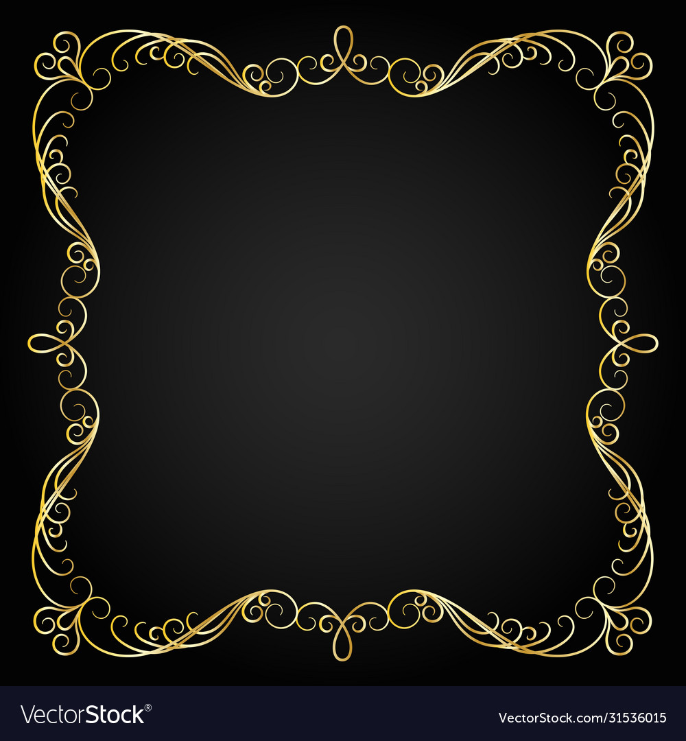 Vintage gold frame decorative frame