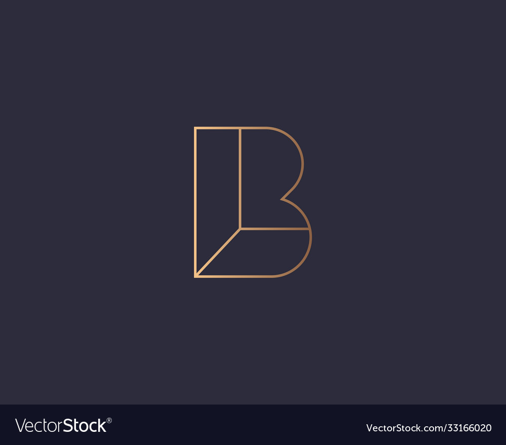 Abstract linear letter b logo icon design modern
