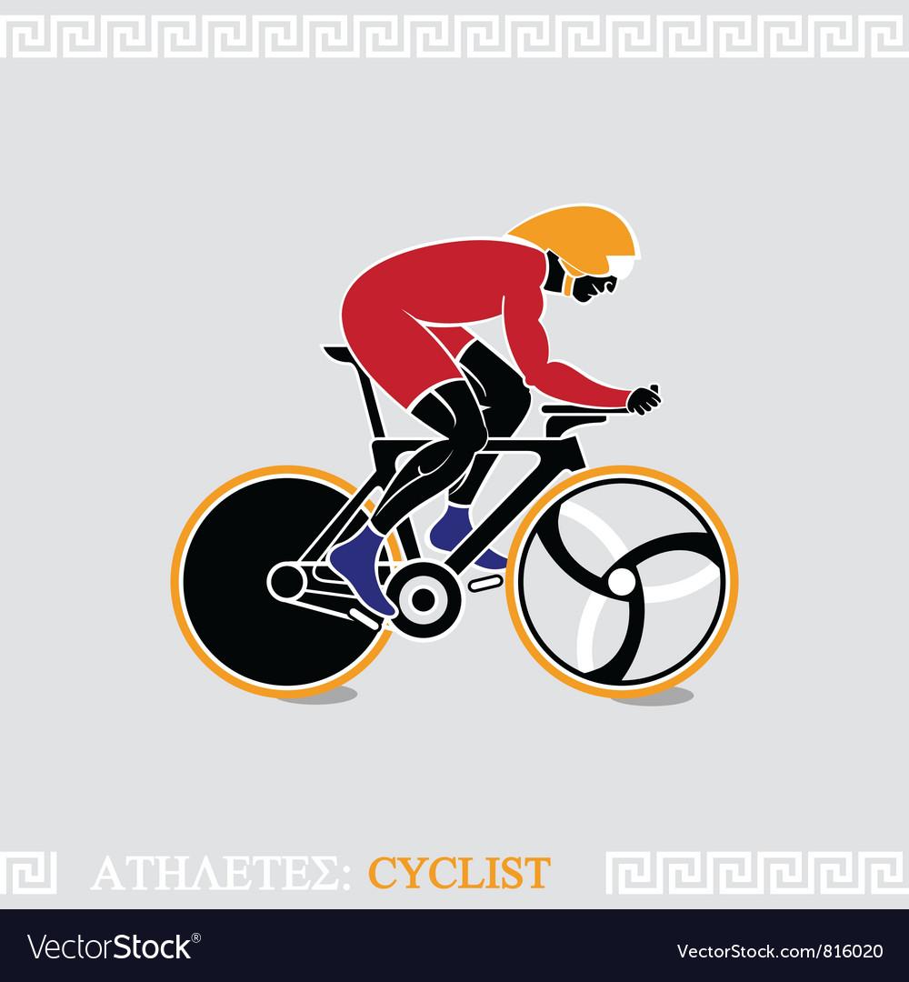 Athlete cyclist
