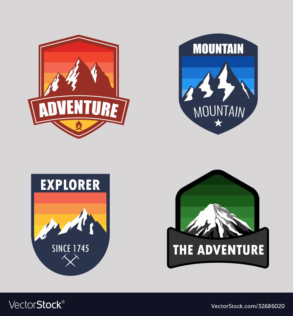 Logo badge mountain