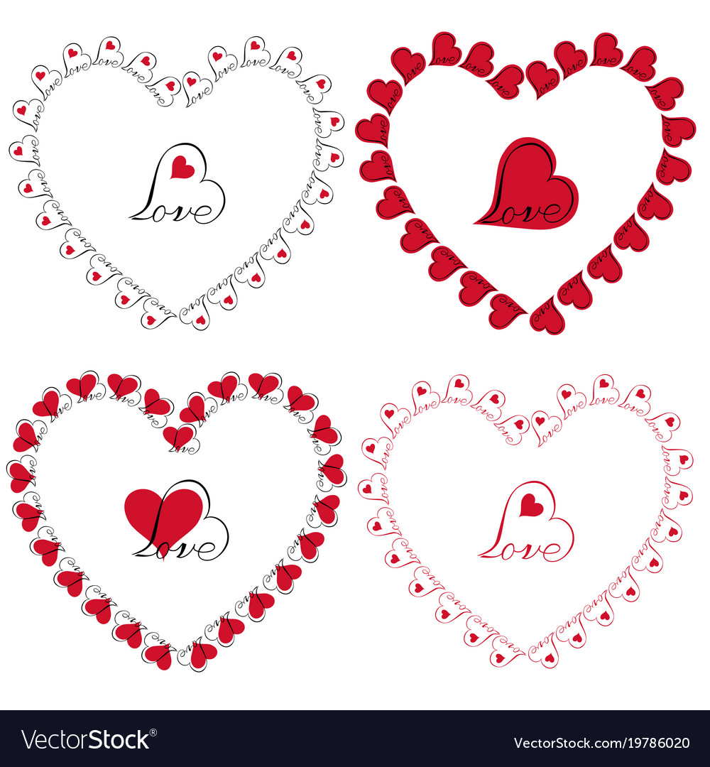 Love heart frames clipart Royalty Free Vector Image