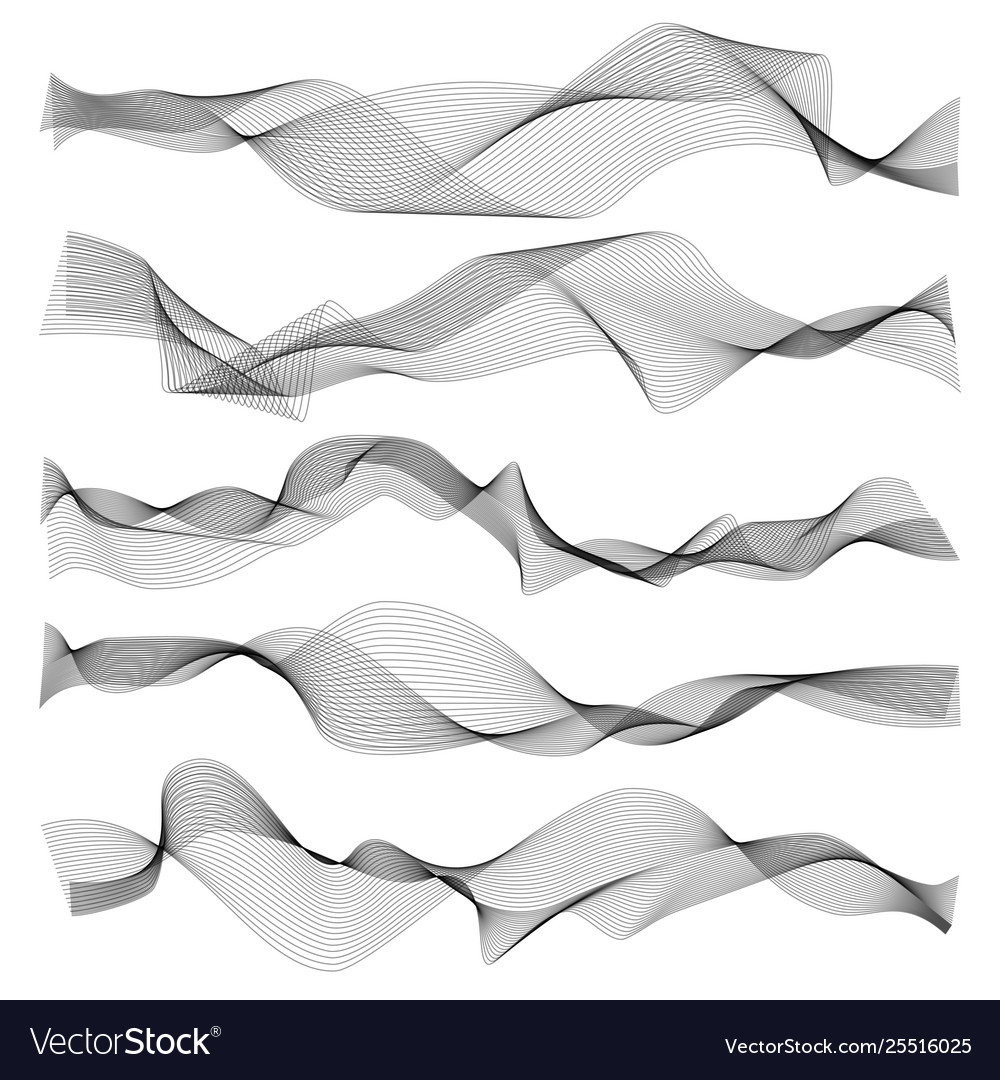 Abstract waves graphic line sonic or sound wave