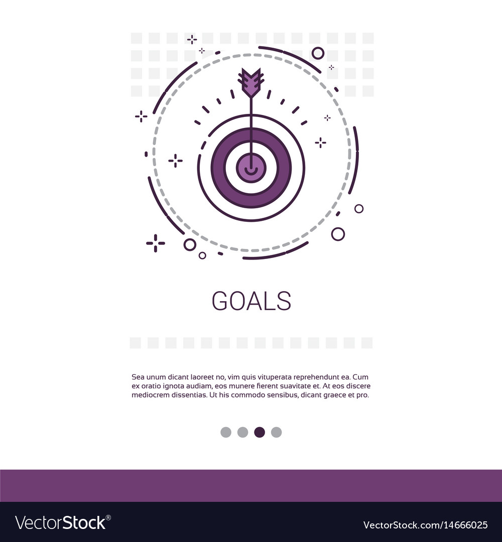 Archery goal business target banner with copy