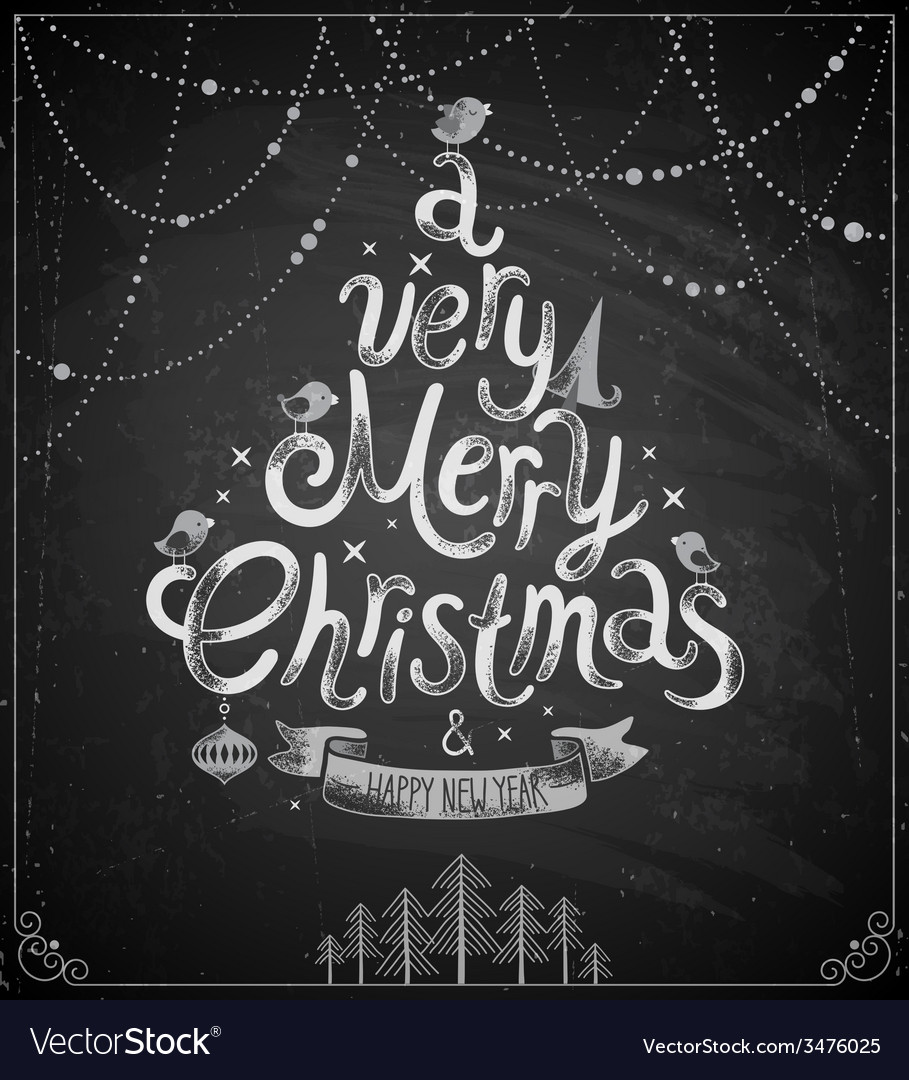 Christmas Chalkboard.Christmas Chalkboard Card