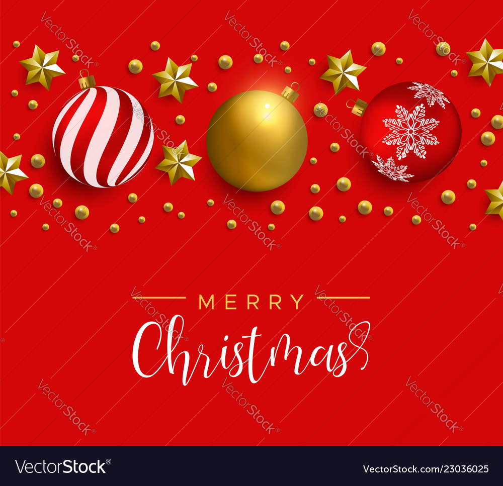 Christmas red decoration layout greeting card
