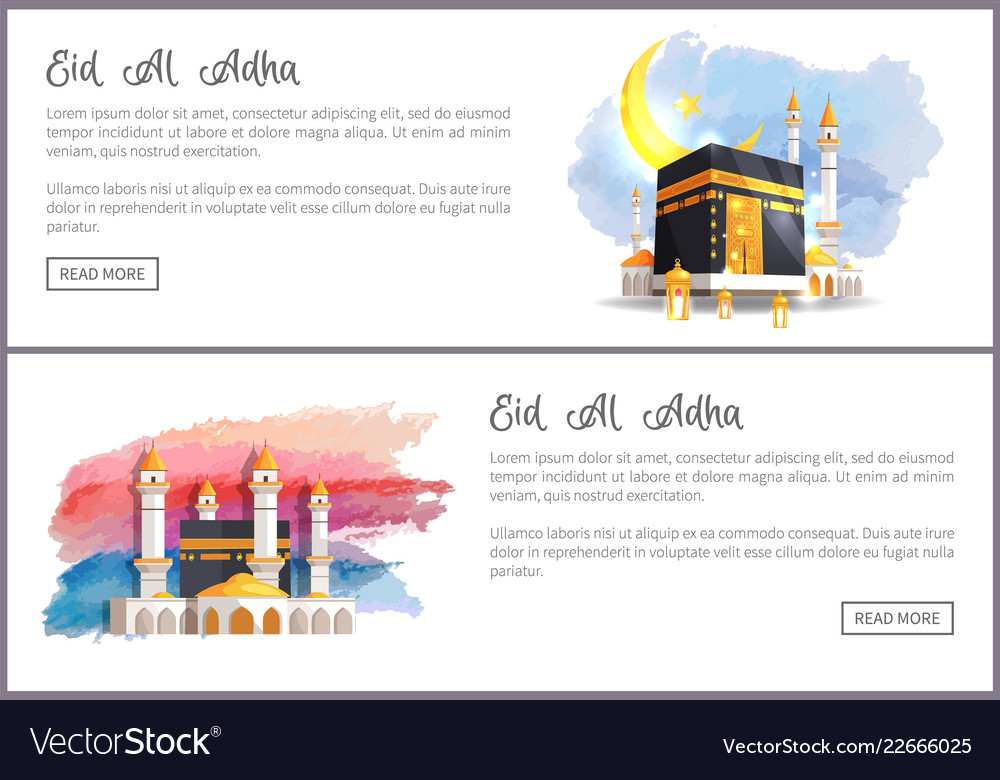 eid al adha holiday online promotion templates vector image