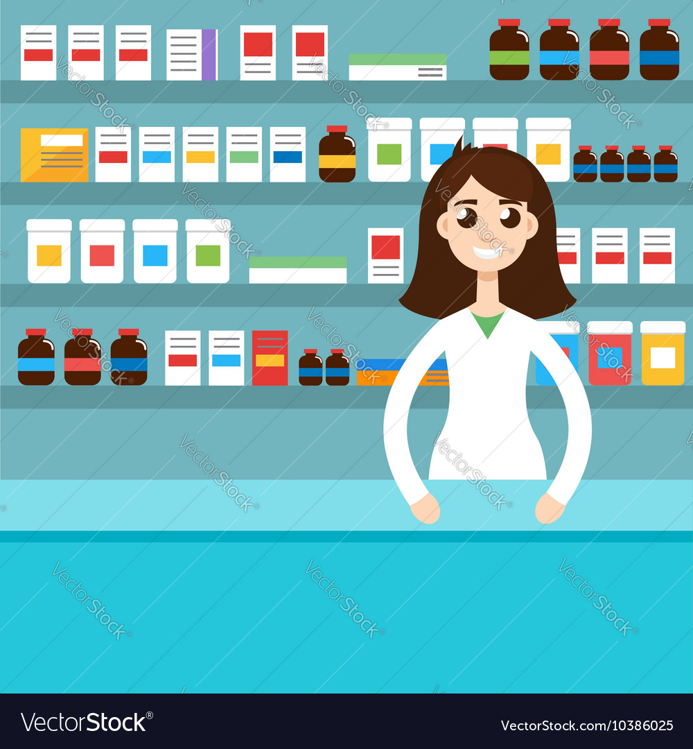 Female pharmacist vector image