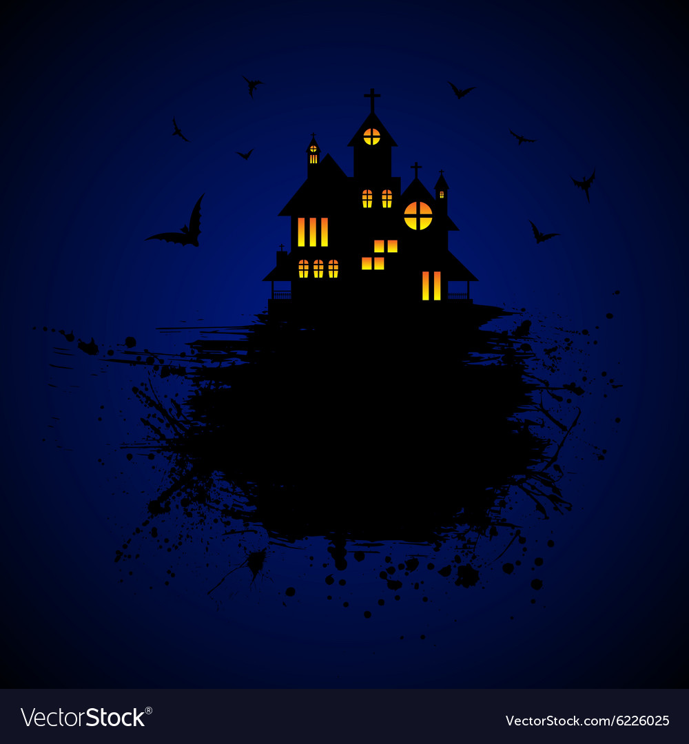 Halloween Castle At Night Royalty Free Vector Image
