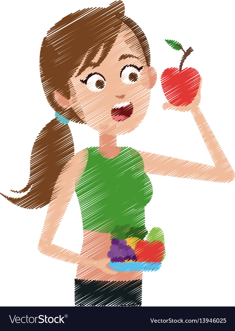 Healthy eating related icons image