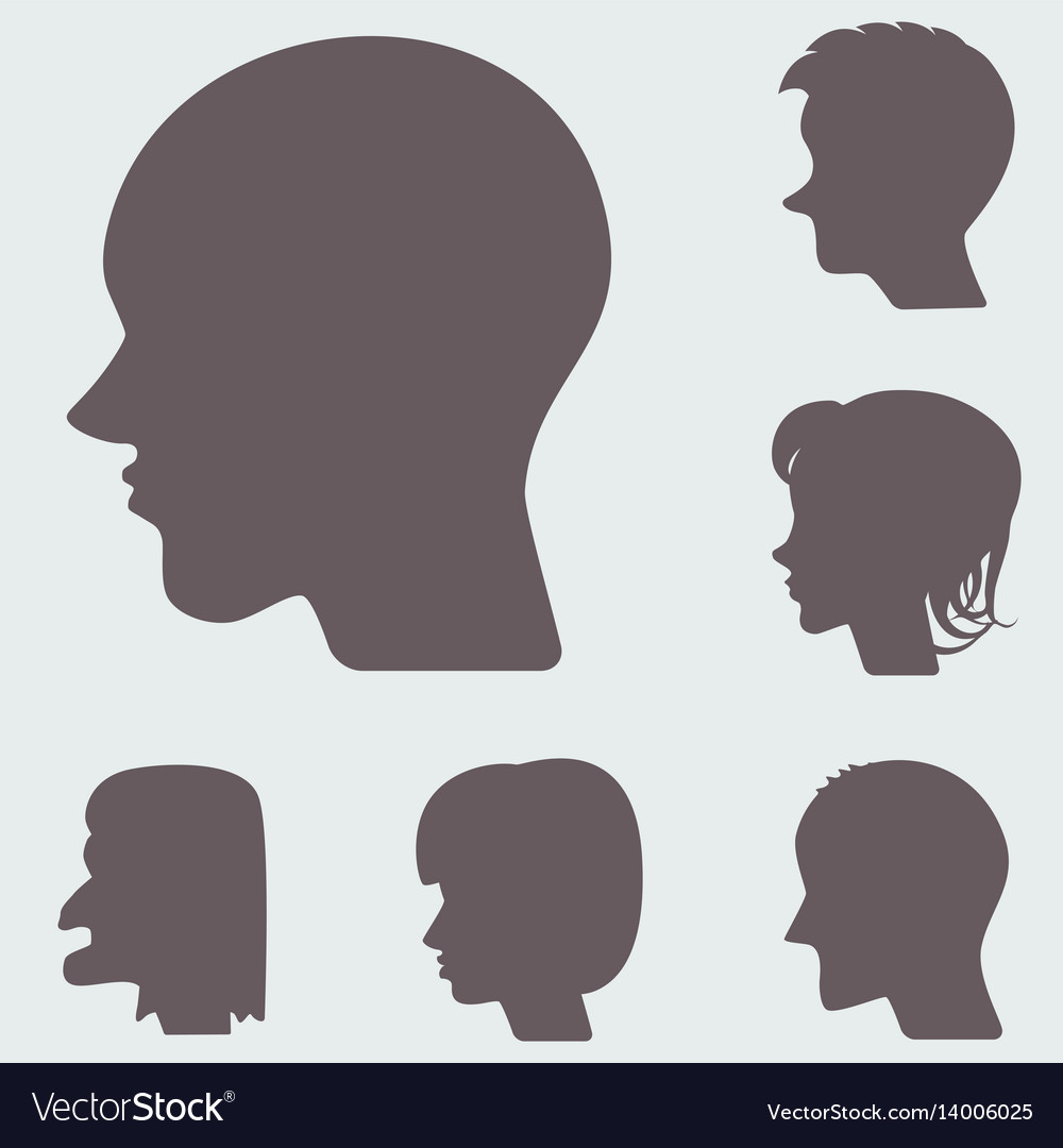 Profiles or cameo silhouettes